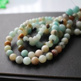 Wholesale string 6mm - 8mm Natural Amazonite stone beads Forest Loose beads 1 string about 40cm wholesale 4mm 6mm 8mm 10mm