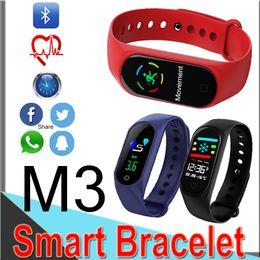 спортивные часы Скидка M3 смарт-браслет LEFUN здоровье 3 Цвет смарт-браслет Спорт сердечного ритма артериального давления мужчины и женщины здоровье смарт-спортивные часы розничная EM3