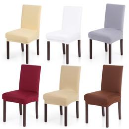 Canada Spandex Stretch Chair Couvre Élastique Doux De Lait Soie Lavable Chaise Seat Seat Pour Salle À Manger De Mariage Banquet Party Hôtel cheap elastic milk silk Offre