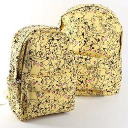 fb5603702140 Women Cartoon Canvas Backpack School Bag Cute Pikachu Printing Rucksack  Backpack Bags New Fashion BP0058
