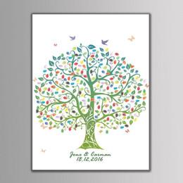 Yenilikçi Parti Malzemeleri Için Parmak Izi Ağacı Doğum Günü Partisi Düğün Hediye Dekor Düğün Ziyaretçi Defteri Katılım Parmak İzi Ağacı nereden sevimli planlayıcı kitap tedarikçiler