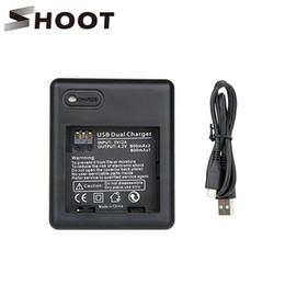Wholesale Fast Shooting - SHOOT USB Dual Battery Charger for Xiaomi yi 2K Camera Fast Xiaoyi Charger for Yi Accessories