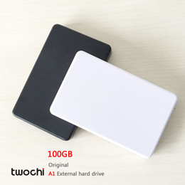 Wholesale original desktops - Free shipping New Styles TWOCHI A1 Original 2.5'' External Hard Drive 100GB Portable HDD Storage Disk Plug and Play On Sale