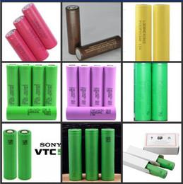 Wholesale E Cigarette Mod Batteries - 2018 Top quality hg2 30q 3000mah VTC5 2600mAh NCR18650B 3400mah 18650 Li-ion 25r 2500mah battery for E cigarette mod