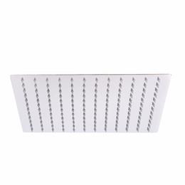 Duchas de pared pulverizadores online-Nuevo 12 '' Cabeza de ducha de lluvia de lluvia de cabeza de ducha de acero inoxidable cuadrada Cabezas de diseño ultra delgadas montado en la pared Mayitrillo de techo