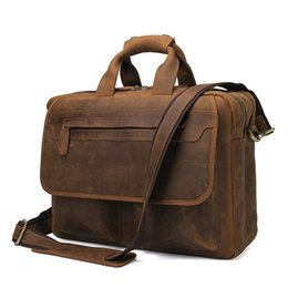 Deutschland Luxus Männer Aktentasche Crazy Horse Echtes Leder Aktentasche Männer Tasche Business Handtasche Laptop Schultertasche Tote Natürliche Haut Tasche Versorgung