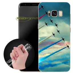 Wholesale aircraft fittings - Coque Travel Aircraft Plane Cases for Samsung Galaxy S9 S8 Plus S6 S7 Edge Note 8 Clear Soft TPU Silicone Shell Cover.
