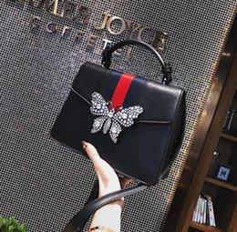 Wholesale bow cross body bag - 2018 Women Set auger butter Bee handbag Fashion designer luxury handbags purses Casual Shoulder Messenger Bag cross body bag 100