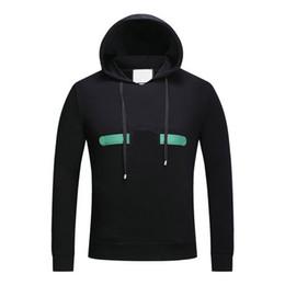 Wholesale Wolf Sweatshirt Xl - 2018 new fashion designer luxury Brand men red green striped letter classic embroidery wolf head hooded hoodies women sweatshirt