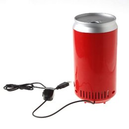 Wholesale Can Cooler Warmer - Mini USB PC Fridge Beverage Drink Cans Cooler & Warmer Red 2016 New
