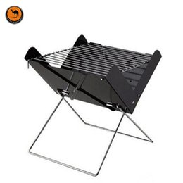 Wholesale Charcoal Iron - More Convenient Black Iron X Style Foldable BBQ Oven Outdoor Portable Barbecue Charcoal Grill Can Fits for 3-5 Person