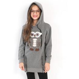 1a97b1565 2017 Girls Fleece Lined Zipper sweater Cartoon Cute Owl Casual ...