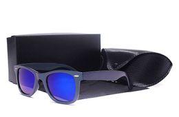 Wholesale flash protection - 9 Colorways Luxury Brand Sunglasses 2140 Ban Strong Sunlight Sunglasses Wayfarer 100% UV Protection Flash Lenses Fashion sun Glasses