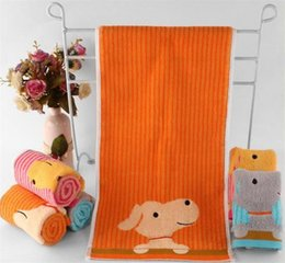Wholesale puppy dog towels - cute animal printed baby face towels deer dog puppy baby towels baby soft cotton face towel