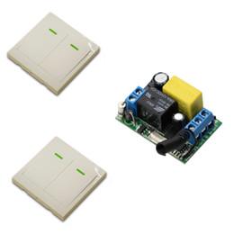 Дистанционная система онлайн-Главная 220 В 1CH RF беспроводной пульт дистанционного управления переключатель системы для светодиодные лестницы потолочный светильник полосы, приемник + 2ch 86 настенный передатчик