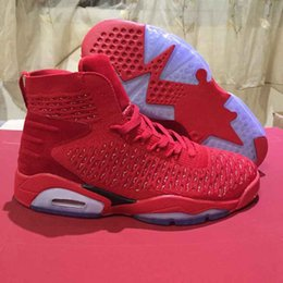 Wholesale Chinese Leather Box - Wholesale With Box 6 VI China Chinese Red Blue 6s Men Basketball Shoes Sports Sneakers Mens Trainers 2018 High Quality Size 8-12