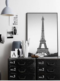 Wholesale Posters Eiffel Tower - Simple Nordic Home Decor Eiffel Tower Wall Art Fashion Mural Poster