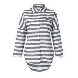 4827294dfa6 Womens Tops and Blouses 2018 Streetwear Striped Button Long Sleeve Blouse  Woman Harajuku Clothes Tunic Ladies Top Feminina
