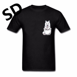 Wholesale Create Shirt - Dropshipping Simple Style Pocket Samoyed T-Shirt Men Short Sleeve compression t shirt Men Funny Create Gift Summer Top Plus Size