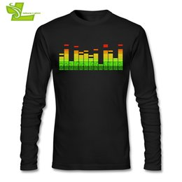 Wholesale Beat Man - DJ Music Beat Equalizer Adult T Shirt Casual Classic T-Shirt Boy Long Sleeve Round Neck Tshirts Teenboys Latest Simple Tee Shirt