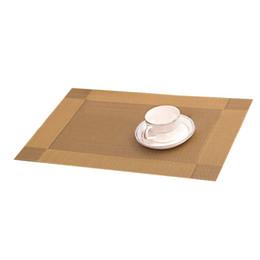 Wholesale Gold Dining Table - Fashion 4Pcs Kitchen Table Bar Mat PVC Placemat Square Kitchen Tool Dining Table Mat Bowl Pad Decor Gold