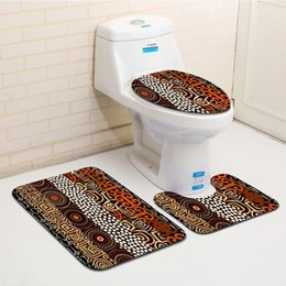Wholesale Patterned Bath Mats - Honlaker 3Pcs set Fashion Abstract Pattern Bath Mats Bathroom Rug Super Soft Suede Suction Toilet Mat