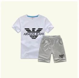 2019 jungen mädchen kinder sport anzüge Neue Stil Kinderkleidung Für Jungen Und Mädchen Sport Anzug Baby, Kleinkind Kurzarm Kleidung Kinder Set günstig jungen mädchen kinder sport anzüge