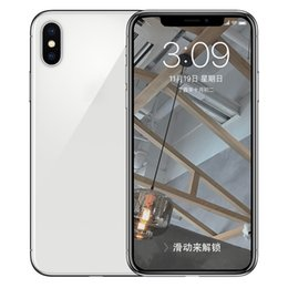 Wholesale Black Charge - ERQIYU Goophone X Face ID V6 shown 4G LTE 64-Bit Octa Core MTK6753 3D Touch GPS Wireless Charging 16.0MP Back Glass Smartphones