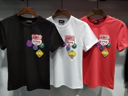 Wholesale Asian Clothing Men - Fashion Letter Print Design Men's Clothing Casual Cotton Short Sleeve T Shirt For Men Women Slim Asian Size M-2XL Tshirts Brands