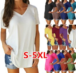 deb789e6b68 Donne all ingrosso Magliette estive Colori caramella T-shirt casual Taglie  forti T-shirt Tops Tinta unita