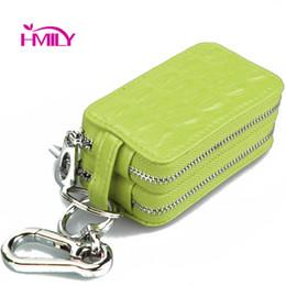 Wholesale Multi Function Women Fashion Wallet - HMILY Key Purse Leisure Zipper Key Wallet Genuine Leather Car Package Alligator Women & Men Wallet Multi-function