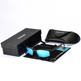 425fcd1eef9 2018 New Square Man Polarized Sunglasses Blue Lens Sun Glasses Mens PC  Frame Mirror Sunglasses With Box MS095 Boy Friend Gift