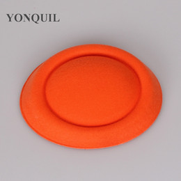 Wholesale Diy Fascinator Hats - Orange or 20 colors 16cm fascinator hats DIY millinery hair accessories pillbox fascinator bases mini top hats occasion MYQH020