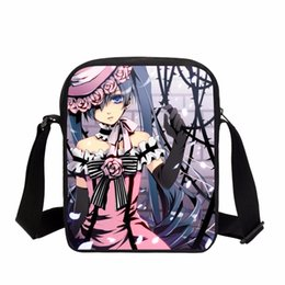 VEEVANV Women Messenger Bags Crossbody Purse Fashion Black Butler Printing  Handbags Kids Anime Cartoon School Shoulder Bag Girls 44f7ea31ffe56