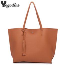 b04850ecf10e0 Frauen Messenger Bags Leder Casual Quaste Handtaschen Weibliche Designer  Tasche Vintage Big Size Tote Schultertasche Hohe Qualität bolsos Y1890801