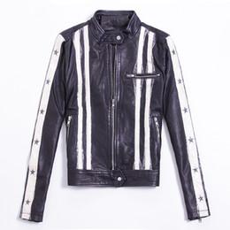 Wholesale Sheepskin Coats For Women - 2017 high fashion genuine leather jacket women Milan catwalk same style stars leather motorcycle jacket for women coat