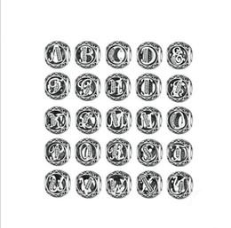 En gros S925 argent sterling lettre initiale alphabet A-Z rond cristal strass rond charme perle pour fabrication de bijoux bricolage ? partir de fabricateur