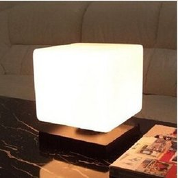 Wholesale Led Cube Tables - Modern brief glass wood study room table light adjustable frozen ice cube table lamp bedside living room E27 desk light