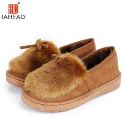 Scarpe piatte usate online-IAHEAD Women Winter Shoes Pantofole base per uso interno Mantenere caldo Super qualità piatto casual Fasion scarpe basse peluche UPC320