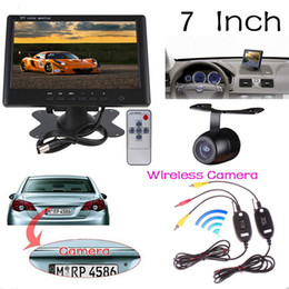 Wholesale Wireless Reverse Parking Sensors - 7 inch HD Video Auto Parking Car Rearview Monitor + Wireless LED Night Vision Reversing Camera + Video Transmitter and Receiver Kit CMO_51Q