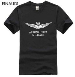 Wholesale black fitness models - New Model new fashion fitness printing aeronautica militare men t shirt famous brand clothing Air Force One mens t-shirt homme