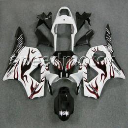 Farben + Geschenke rote Flammen + schwarze Motorradverkleidung Verkleidung für HONDA CBR900RR 2002 2003 CBR954RR 02 03 ABS-Kunststoff-Kit von Fabrikanten