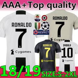 Nuevo 2019 # 7 RONALDO JUVENTUS Soccer Jersey 18 19 JUVE tercer equipo de casa Hombres Mujer # 10DYBALA Camiseta de fútbol MANDZUKIC Equipo de uniformes de calidad superior JUVENTUS Soccer Jerseys desde fabricantes