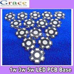 Wholesale 1w Led Pcb - 200pcs 1W 3W 5W High Power LED PCB Aluminum Star base plate Circuit board DIY