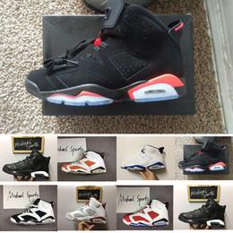 online store 8437e c5dce Envío de la gota 2018 hombres mujeres zapatos Nike Air Jordan 6 casuales Classic  negro infrarrojo Carmine Maroon zapatos de mujer de alta calidad eur 36-47