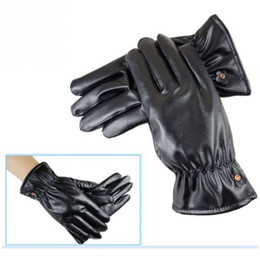 Wholesale couple gloves - Leather Gloves Winter Coral Fleece Couples PU thick all refers to the gloves