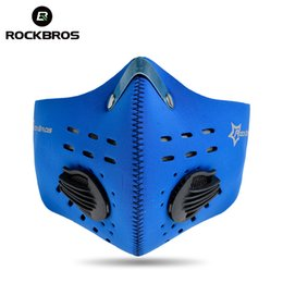 Wholesale Blue Gold Filter - ROCKBROS Bike Cycling Face Cover Outdoor Winter Protection Dustproof Breathable Mask Bicycle Cycle Equipment Carbon Haze Filter