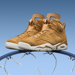Wholesale Love Deeper - Newest colore love retro 6 wheat Men's Basketball Shoes Sneakers Retro 6s gold Basket ball Shoe casual mesh good outdoor trainers deep PE