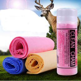 reinigungsmittel für hunde Rabatt 66 x 43 cm 43x22cm Haustier Hund Handtuch Reinigungsartikel PVA Materialien Imitation Buckskin Quick-dry Dog Clean Handtuch