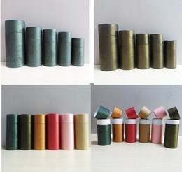 Wholesale Tube Packaging For Cosmetics - 50pcs Kraft paper packaging cardboard tube for gift jewelry cosmetics  e liquid bottle essential 30ml oil Bottles packaging box